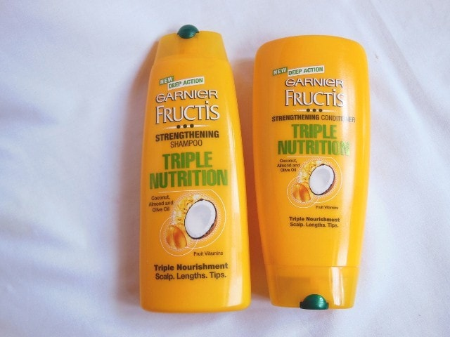 Garnier Fructis Triple Nutrition Strengthening Shampoo and Conditioner Review
