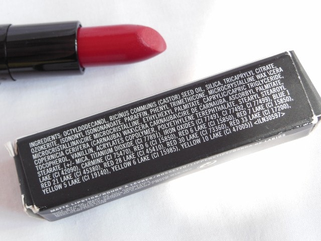 MAC Archies Collection Ronnie Red Lipstick Ingredients
