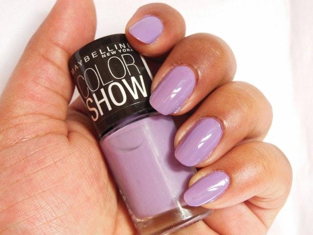 Maybelline Color show Blackcurrant Pop NOTD