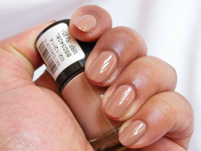 Maybelline Colorshow Nail Paint Nude Skin Swatch