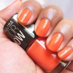 Maybelline Colorshow Nail Paint Orange Fix NOTD
