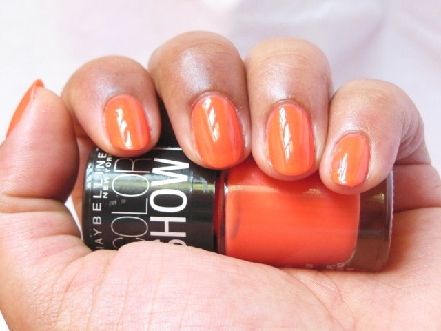 Maybelline Colorshow Nail Paint Orange Fix NOTD 2