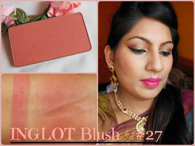 Monthly Makeup Favourites - INGLOT Powder Blush 27