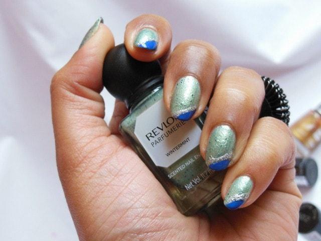 Revlon Parfumerie Nail Enamel Wintermint nails 3