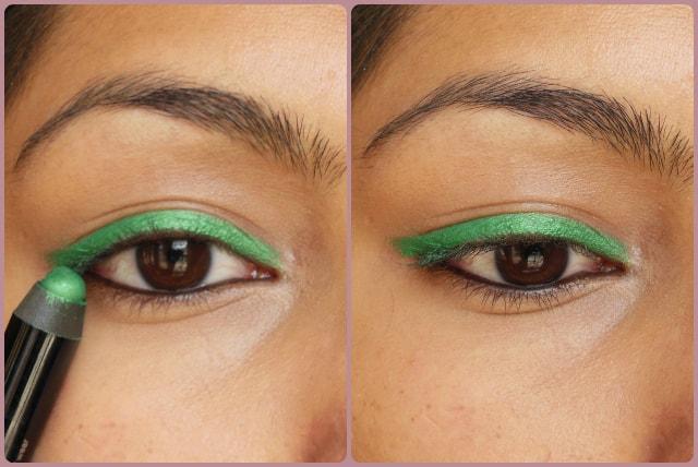 Sephora Jumbo Waterproof 12Hr wear Liner Green EOTD