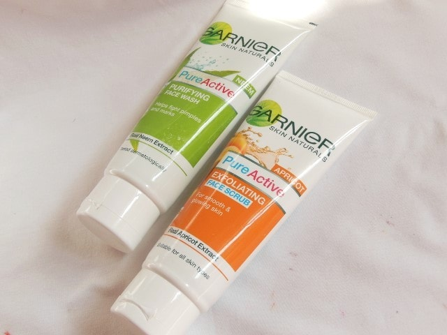 how to use garnier scrub on face