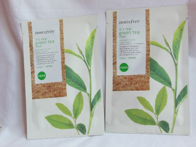 Innisfree It's Real Green Tea Mask Packaging