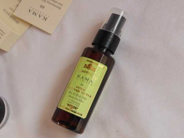 Kama Ayurveda Vetiver Face and Body Mist packaging