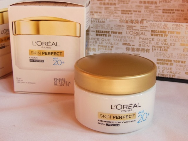 L'Oreal Skin Perfect 20+ Anti Imperfections and whitening cream