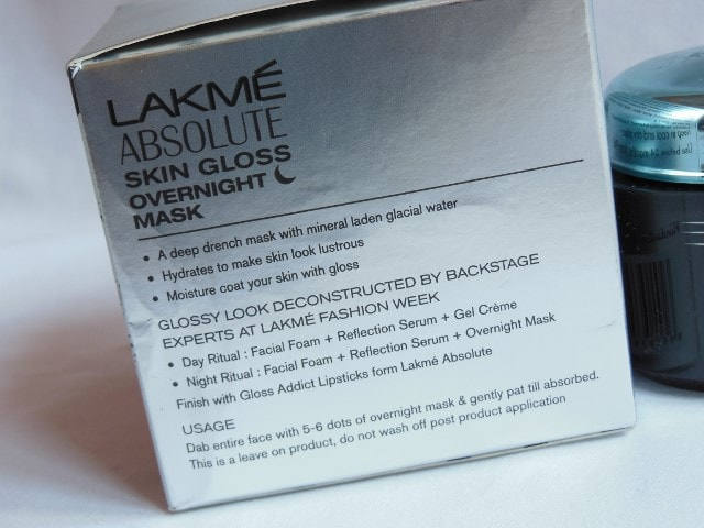 Lakme Absolute Skin Gloss Overnight Mask Claims