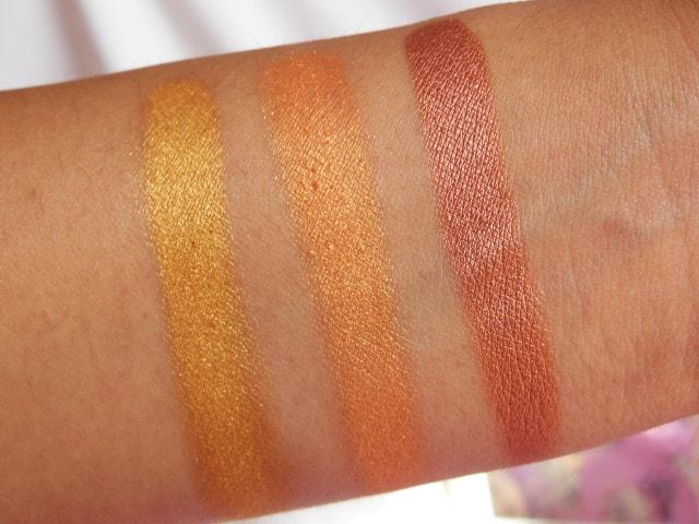 Makeup Geek Vegas Lights Palette Swatch2 - Row1
