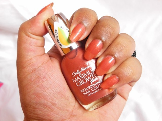 Sally Hansen Maximum Growth Plus Nourishing Nail Color Practical