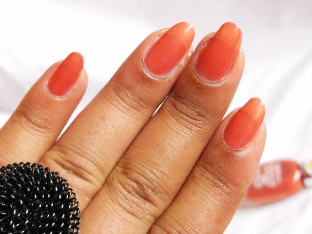 Sally Hansen  Practical Plum Nourishing Nail Color NOTD