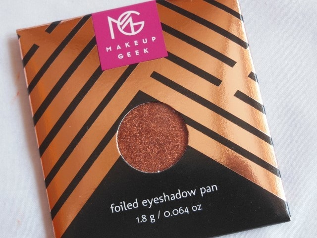 Sneak Peek- Makeup Geek Foiled Eye Shadow - Flame Thrower