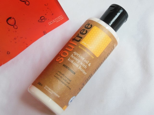 Soultree Apricot oil and Honey with Kokum Butter Moisturiser Review