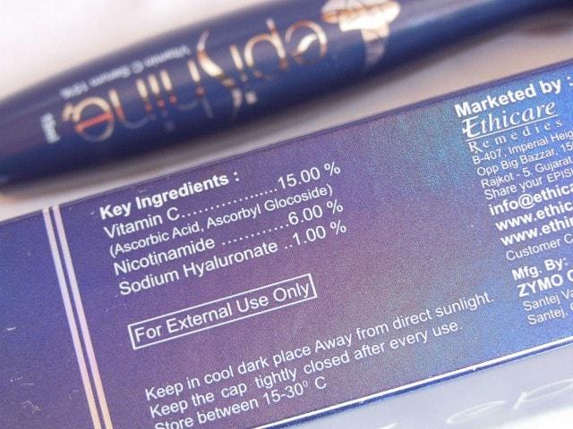 Ethicare Epishine Vitamin C Serum Ingredients