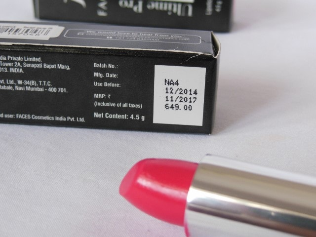 Faces Ultime Pro Velvet Matte Lipstick Price