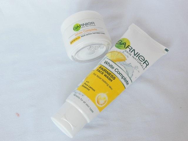 Garnier White Complete Face wash and Cream