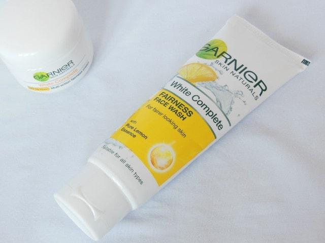 Garnier White Complete Fairness Face Wash Packaging