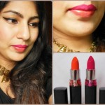 Maybelline Color Show Lipstick Fuchsia Flare and Orange Icon Look