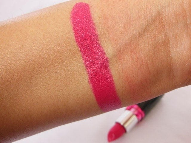 Maybelline Color Show Lipstick Fushcia Flare Swatch