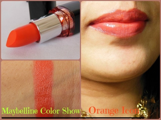 Maybelline Color Show Lipstick Orange Icon LIp Swatch