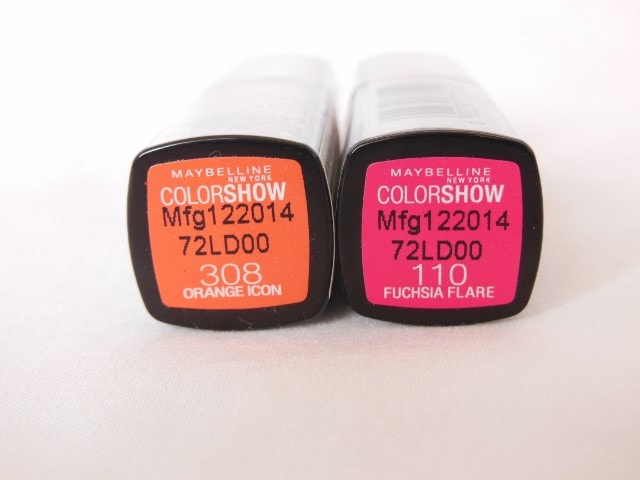 Maybelline Color Show Lipsticks Shades