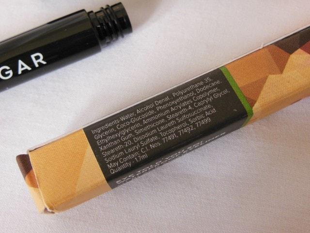 Sugar Eye Told You So! Waterproof Eyeliner-Black Swan Ingredients