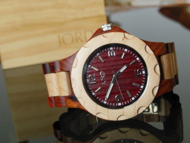 Sully Cherry and Maple Wooden Watch
