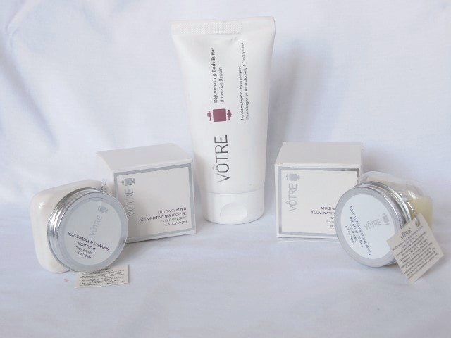 Votre Multi Vitamin and Rejunevating Skin Care Range