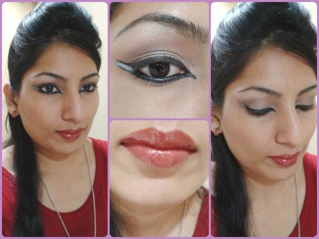 Dual Winged Eye Liner Makeup Look
