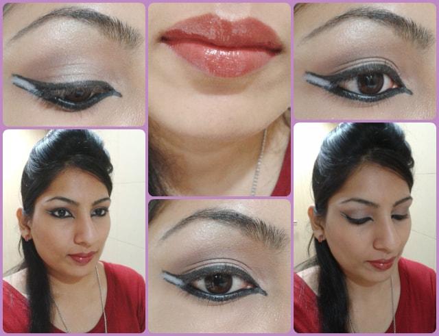 Dual Winged Liner Makeup Look