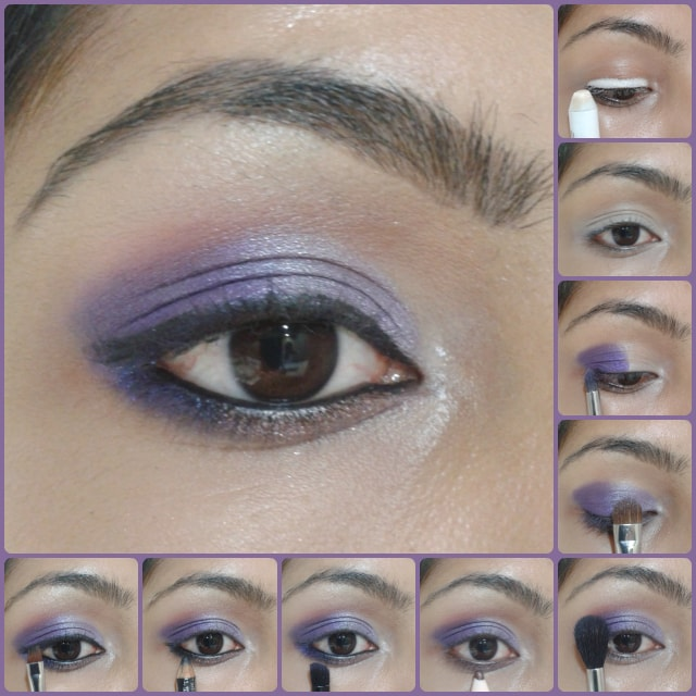 Eye Makeup Tutorial - Ombre Purple Eyes