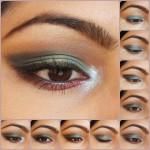 Eye Makeup Tutorial- Peacock Blue Eyes