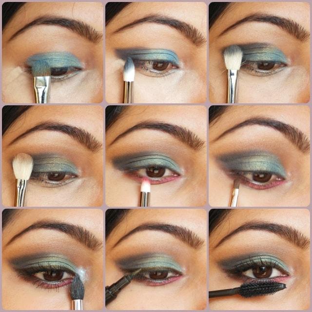 Eye Makeup Tutorial - Peacock Blue Eyes