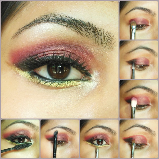 Eye Makeup Tutorial - Plum and Gold Eye Makeup