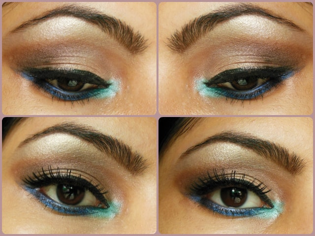 Eye Makeup Tutorial Pop of Blue Look
