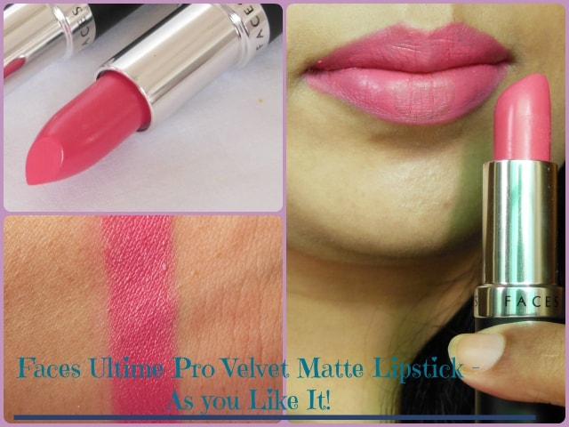 Faces Ultime Pro Velvet Matte Lipstick - As You Like it Look