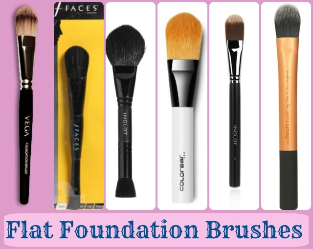 Foundation Brushes Guide - Flat Foundation Brushes