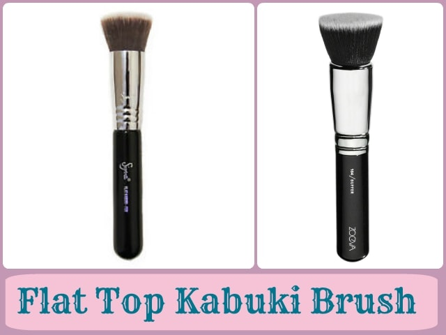 Foundation Brushes Guide - Flat top Kabuki Brushes