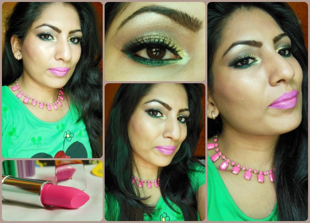 Glitter Gold and Greens Makeup Look
