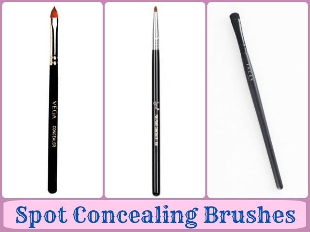 Makeup Brushes Guide - Spot concealer brushes