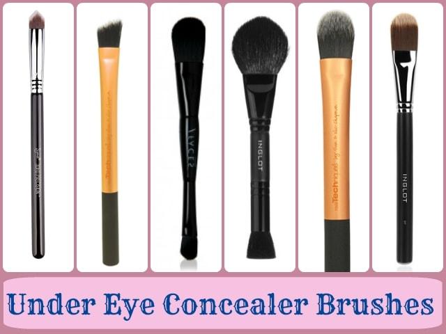 Makeup Brushes guide - Under eye concealer brushes