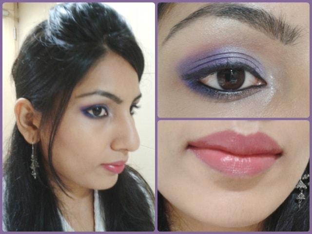 Ombre Purple Eye Makeup Look
