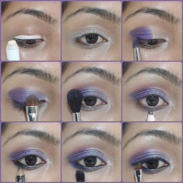 Ombre Purple Eye Makeup Tutorial