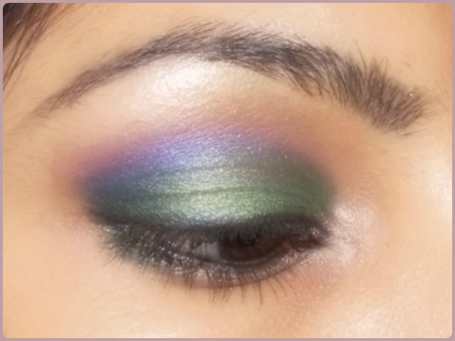 Orchid inspired Green and Purple Eye Makeup Look