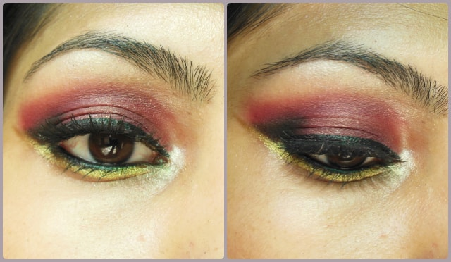Plum and Gold Eye Makeup
