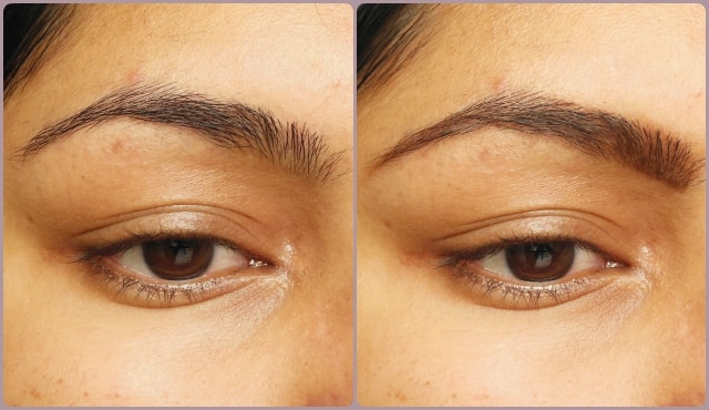 Rimmel Eye Brow Pencil Dark brown Before and After