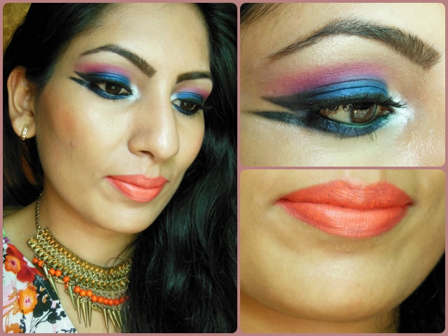 What Am I Wearing Today - Blue Marina Makeup Look