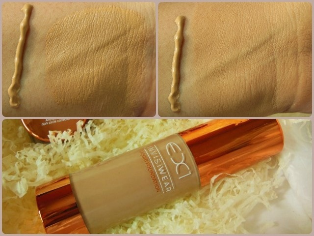 EX1 Cosmetics Invisiwear Foundation Swatch